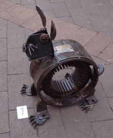 Rabbit made from a welder armature thingo ! by Grahame Bray