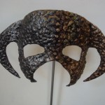 """Dichotomy 2"" Mask , Forged , welded and bronzed mild steel"