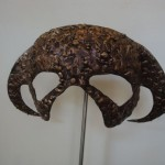 Mask , Forged and 'bronzed' mild steel