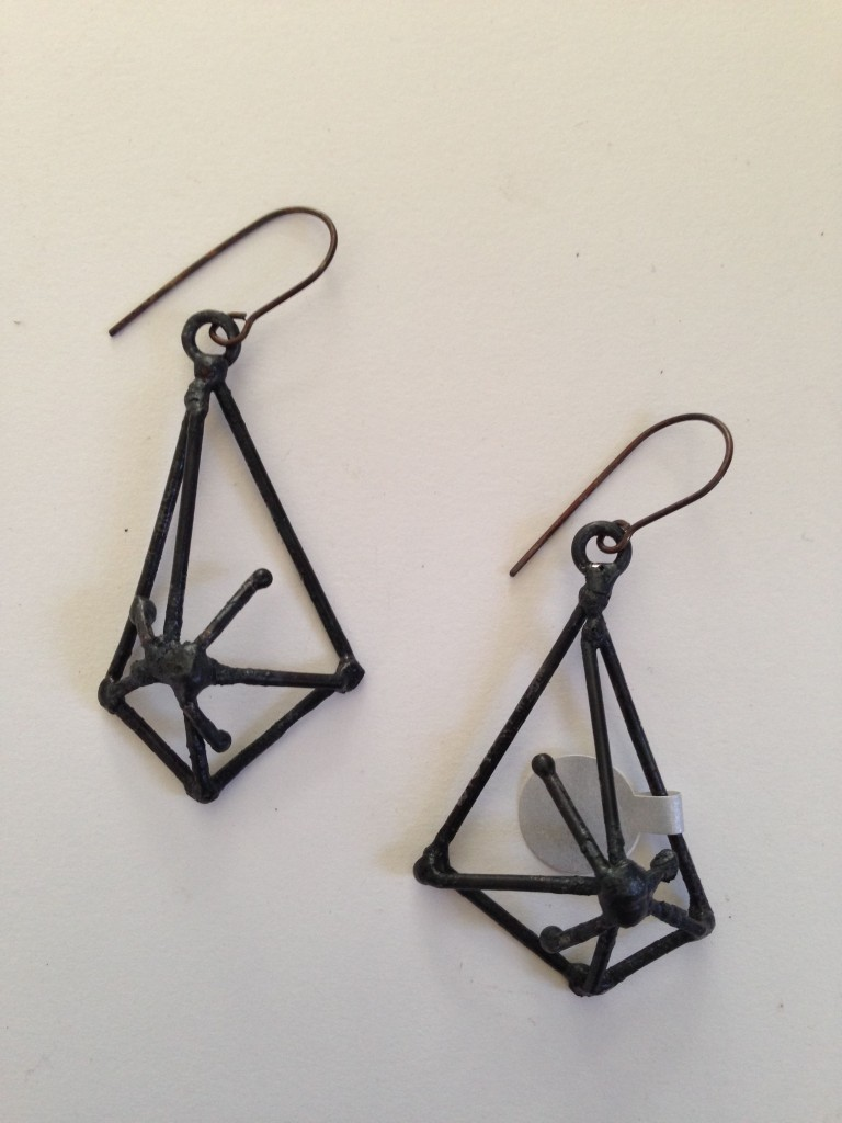 Earrings ...Welded Steel