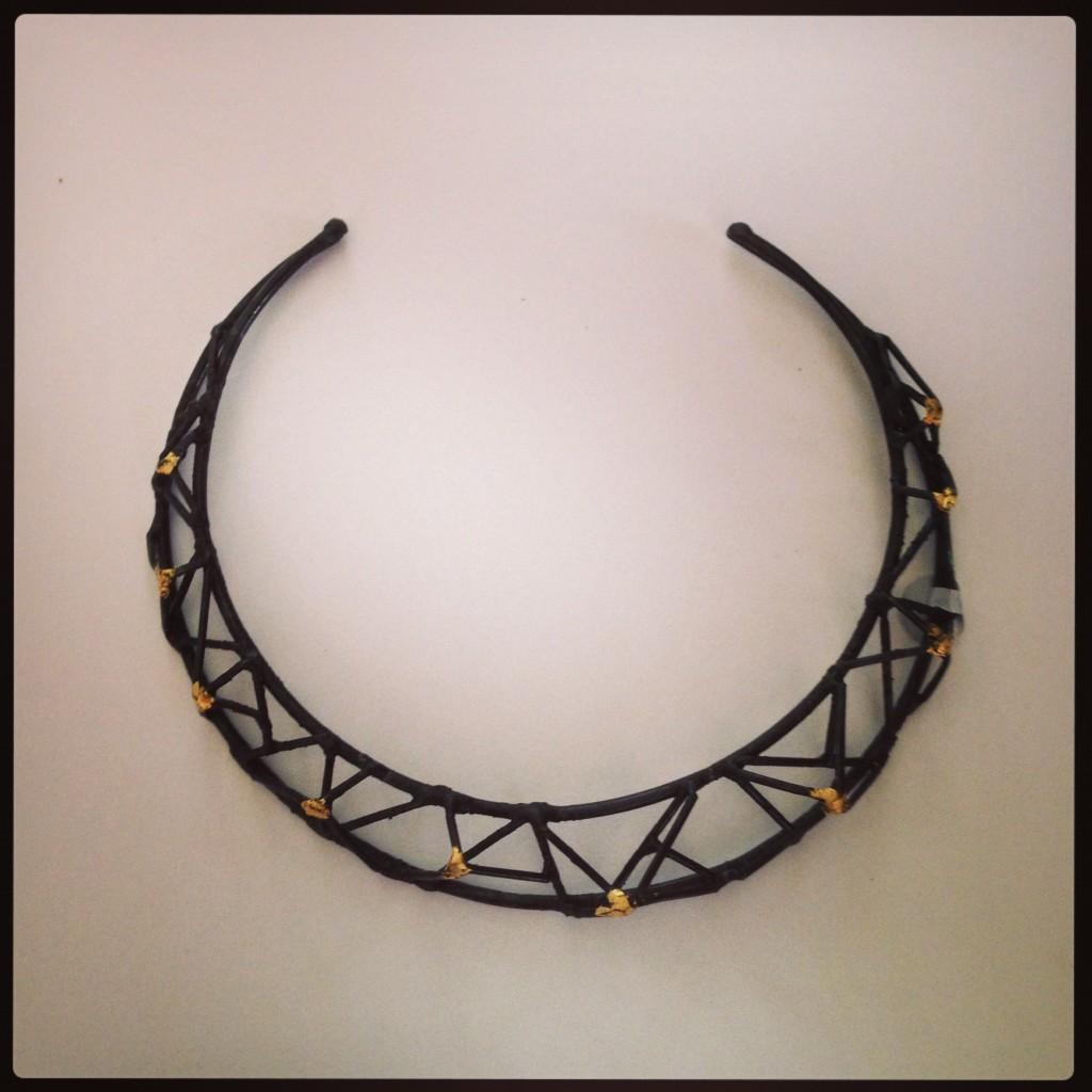 Choker-Neckpiece ...Welded Steel and 23K Gold leaf