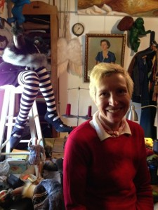 "Sandra Broman of ""Sister George Productions"" in her fabulous studio/gallery"