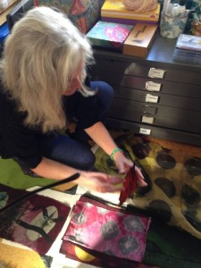 Rhonda Ellis with Shibori silks