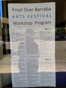 Frost Over Barraba Arts Festival Program 2014
