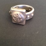 Sand-Cast Silver Ring Anchor