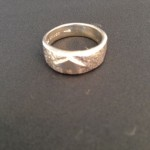 Sand-Cast Silver Ring
