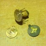 "Sand cast bronze fertility pendant... brass and wax ""master"""