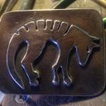 Sand Cast Bronze Thylacine Belt Buckle (Tasmanian Tiger)