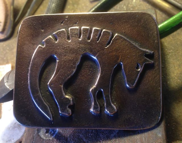 Sand Cast Bronze Thylacine Belt Buckle (Tasmanian Tiger)