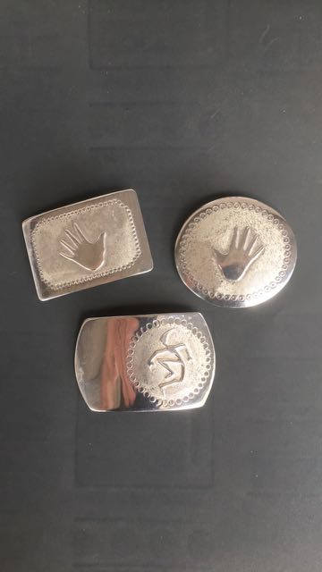 Sterling silver belt buckles for 1 inch wide belt