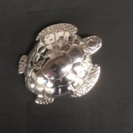Fine silver (99.9) Turtle belt buckle for 1 and1/4 inch wide belt