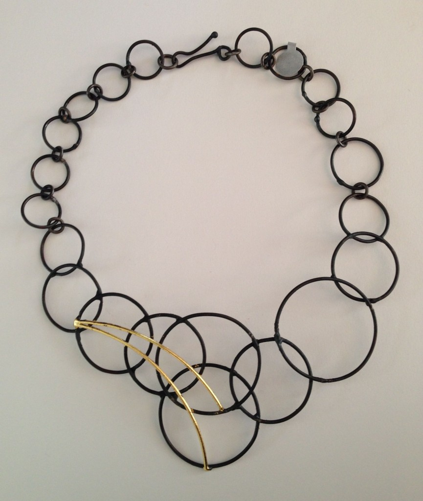 Chain-Necklace ...Welded Steel and 23K Gold leaf