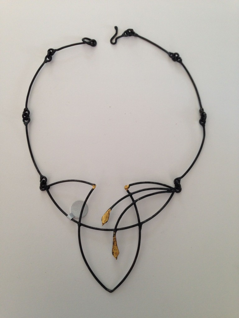 Neckpiece ...Welded Steel and 23K Gold leaf
