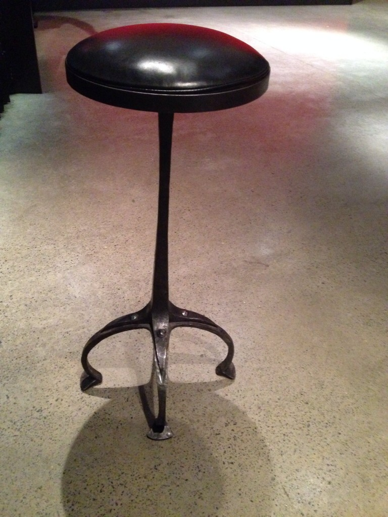 Bar stools by Ben Beames of Hammer and Hand Hobart in the Bar at MONA